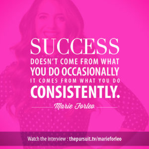 Success doesn't come from what you do occasionally...-Marie Forleo